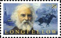 HW Longfellow Postage Stamp